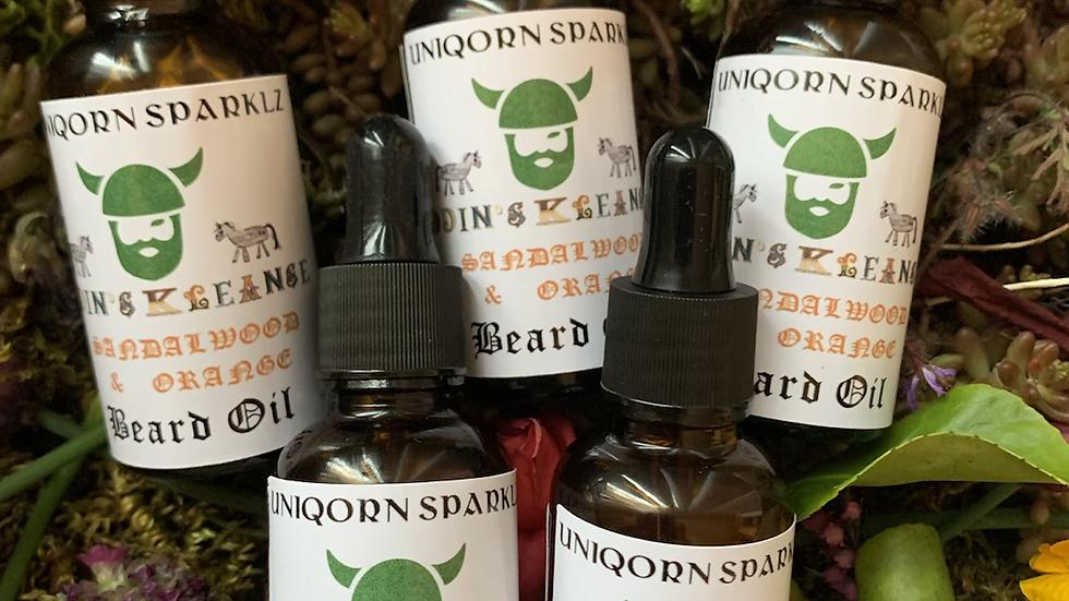 Oden's cleansing beard oil orange and sandalwood