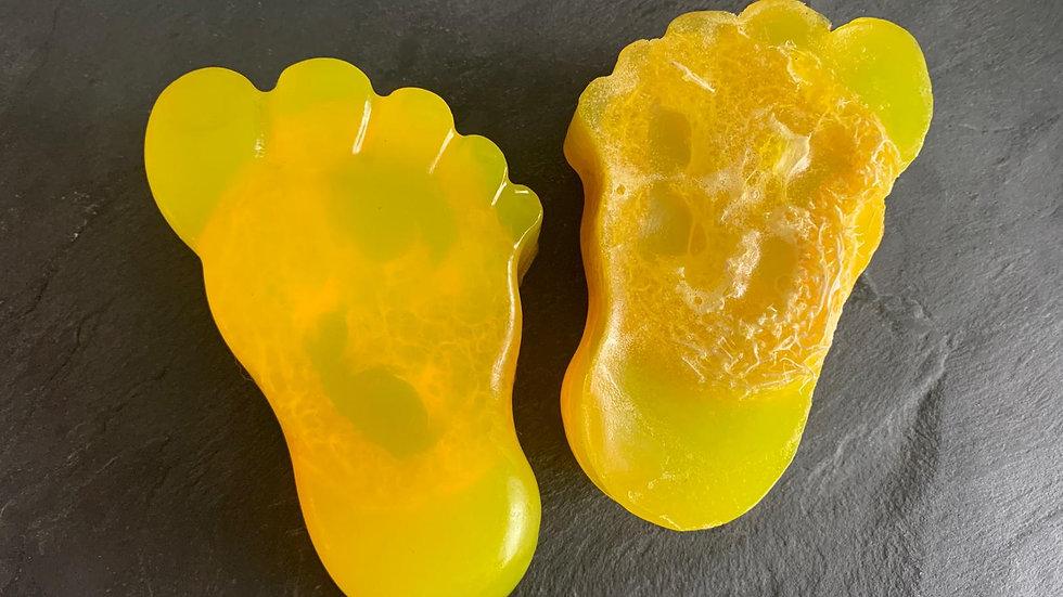 Lemon Sherbet foot loofah Soap