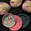 Thumbnail: Face Scrubby 100% cotton x3 washable pads marble pink blue