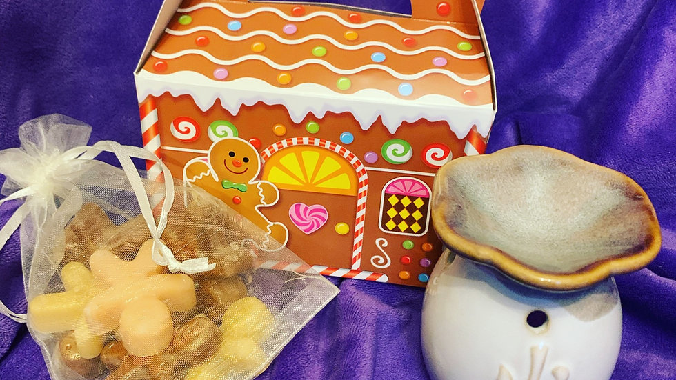 Wax melt and burner gift set gingerbread
