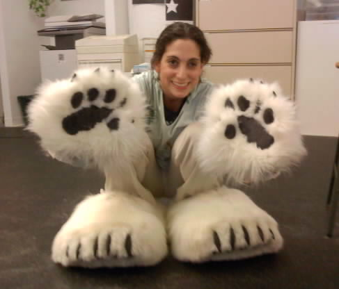 Mascot paws and feet