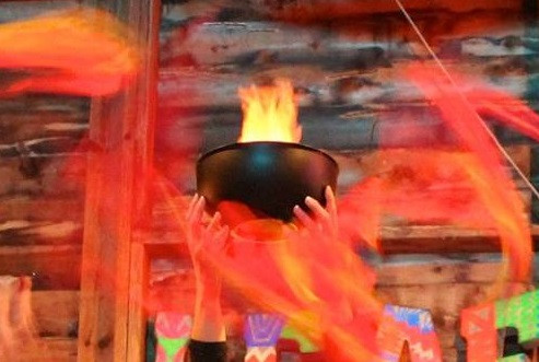 Helix of Fire: Workshop flames
