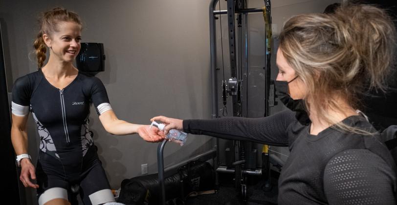 Hand Sanitizer after workout