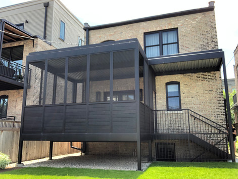 2-Flat Conversion and Steel Porch, Chicago