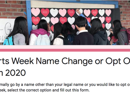 Hearts Week Name Change or Opt Out Form