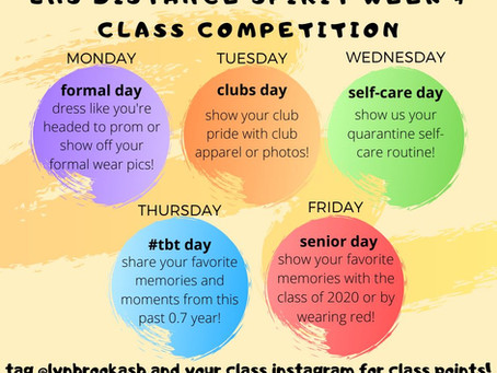 Spirit Week + Class Competition!