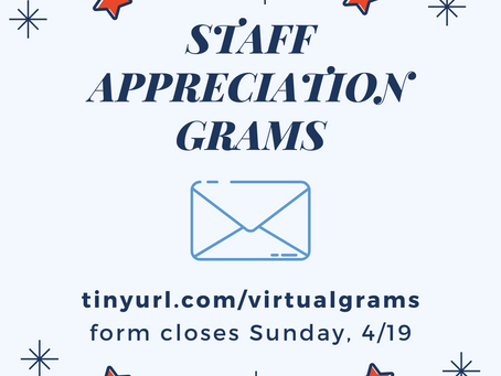 Staff Appreciation Grams