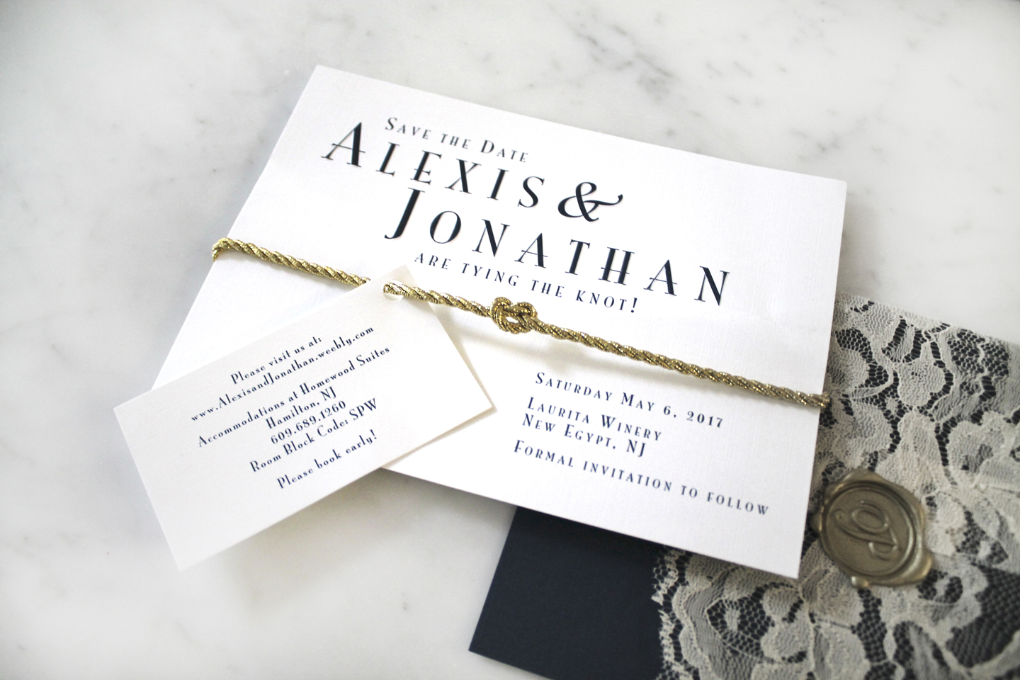 Alexis & Jonathan Wedding Invitation