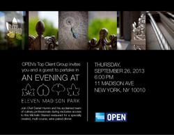 ELEVEN MADISON PARK INVITATION