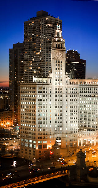 The Wrigley building, Chicago, Illinois real estate photography