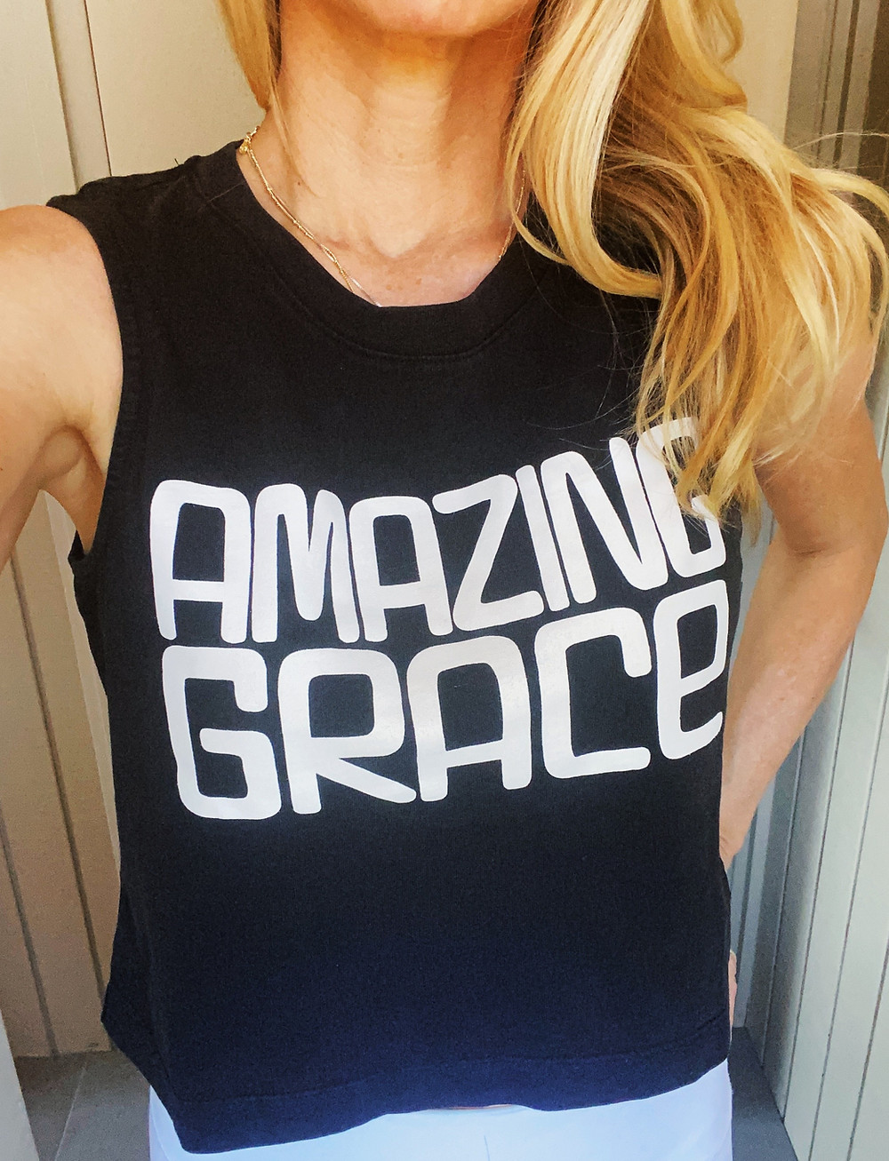 Yoga Fashion - Best Cropped Tanks 2021 - Amazing Grace Crop Muscle Tank
