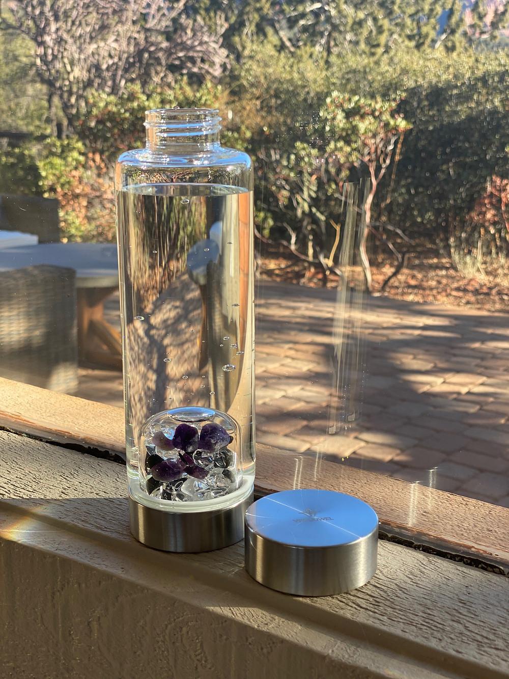 VitaJuwel Crystal Water Bottle   VitaJuwel   Yoga Fashion Self Care Blogger