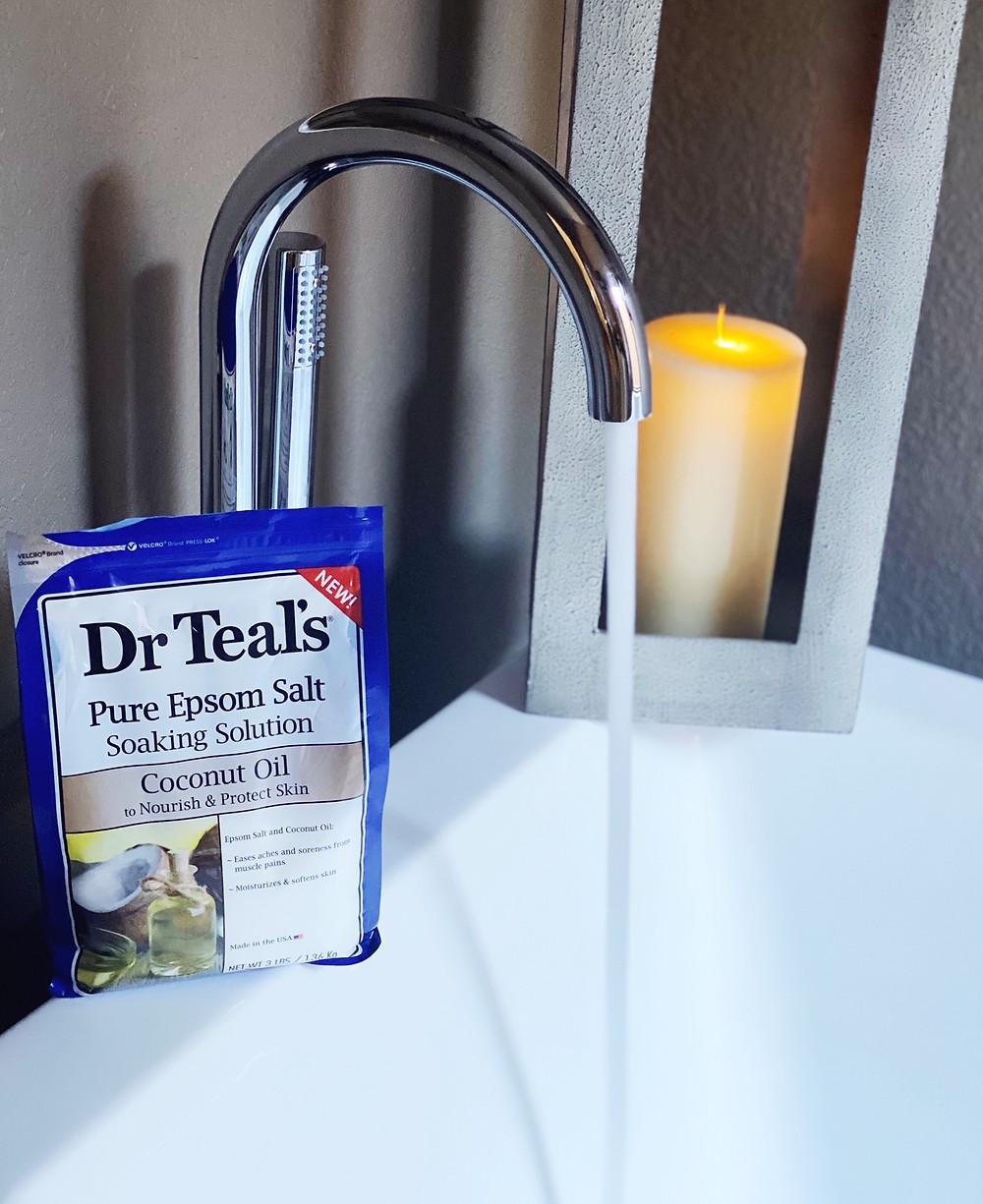 Dr. Teals Pure Epsom Salt Coconut Oil | Dr Teals | Fashion Yoga Self Care Blogger