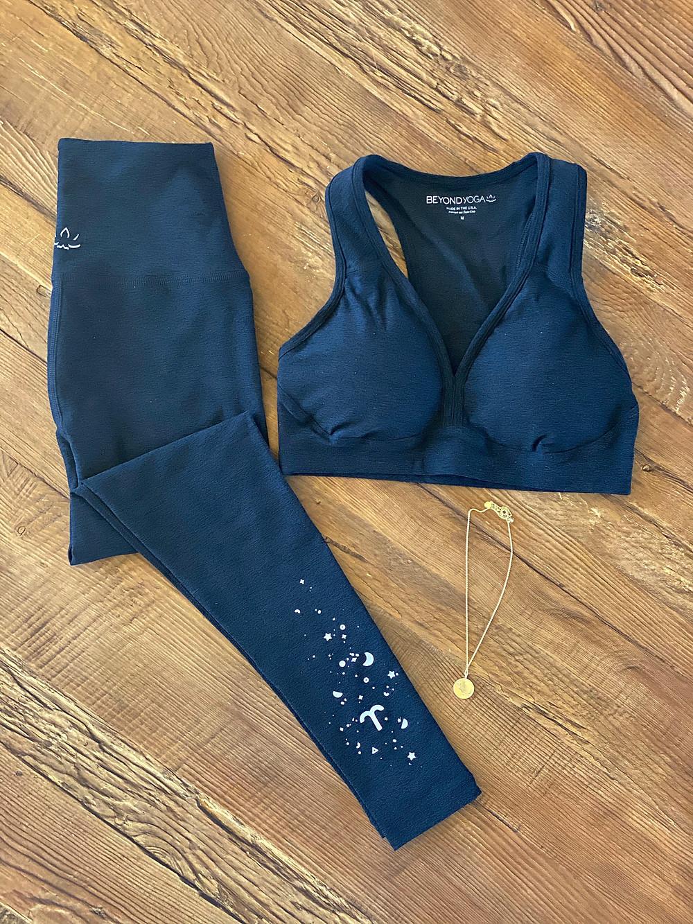 Yoga Fashion - Best Bra & Legging Sets 2021 - Beyond Yoga Spacedye Zodiac Leggings & Lift Your Spirits Bra