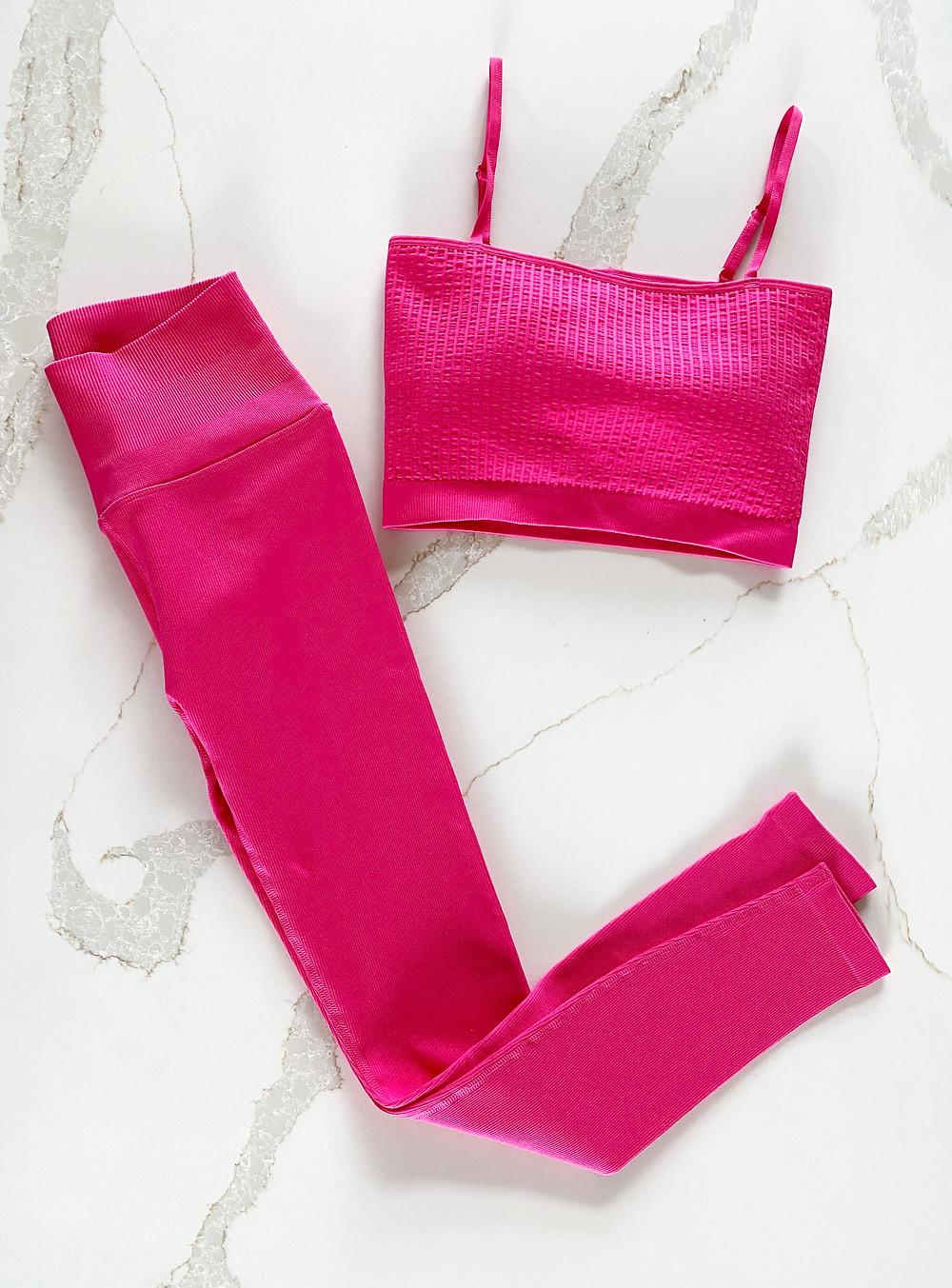 Yoga Fashion - Best Bra & Legging Sets 2021 Spiritual Gangster's Wide Rib Bandeau Cami and Love Sculpt Seamless Leggings