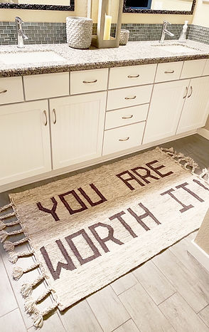 Your Are Worth It Rug