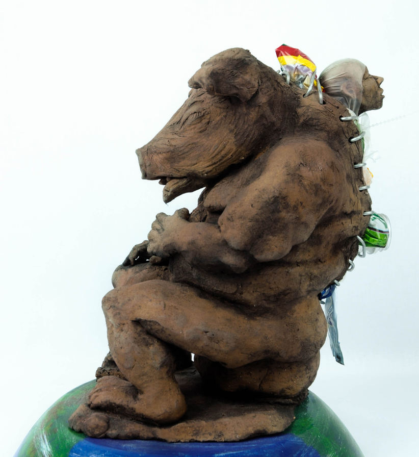 "Alfonso ""Piloto"" Ruiz Nieves (Chicago, IL). Mixed media sculpture."