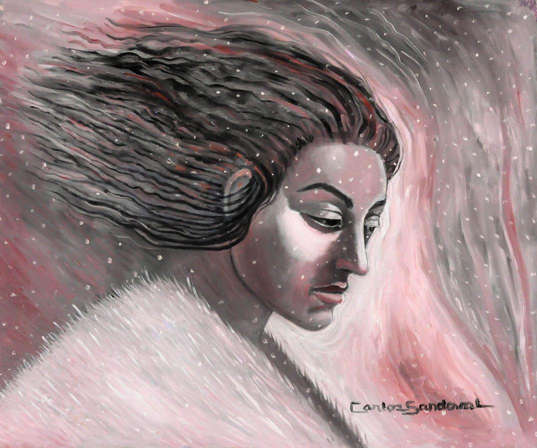 Carlos Sandoval (San Luis, CO). Untiltled. Painting on Canvas.