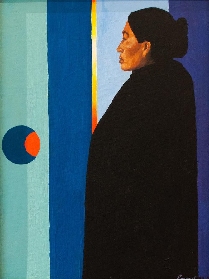 "Emanuel Martinez (Denver, CO). "" La Curandera"". Pastel Painting, 1980."