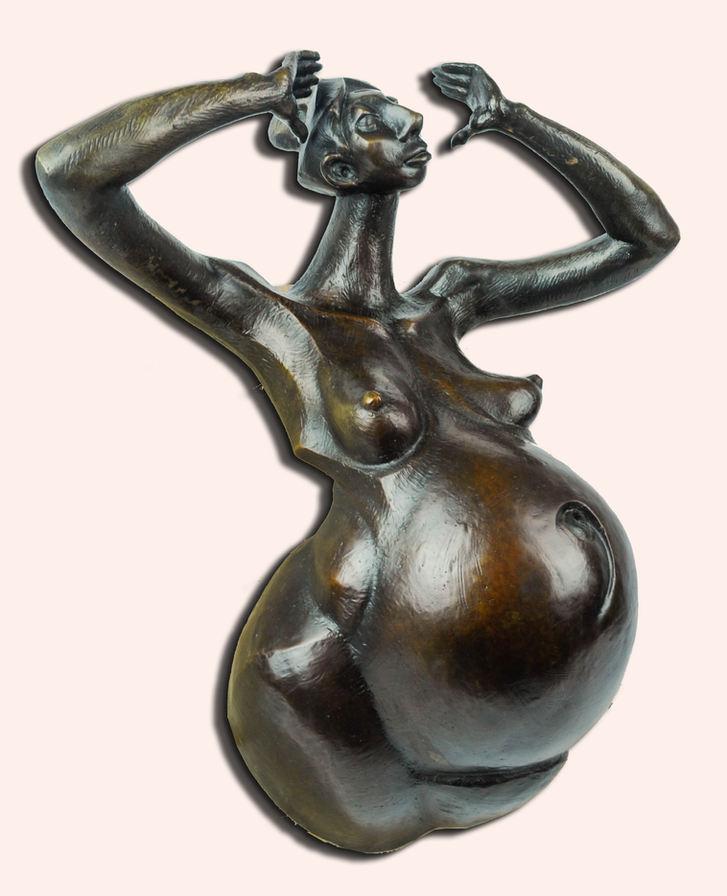 "David Ocelotl García (Denver, CO). ""Madre Tierra"". Bronze, 2018."