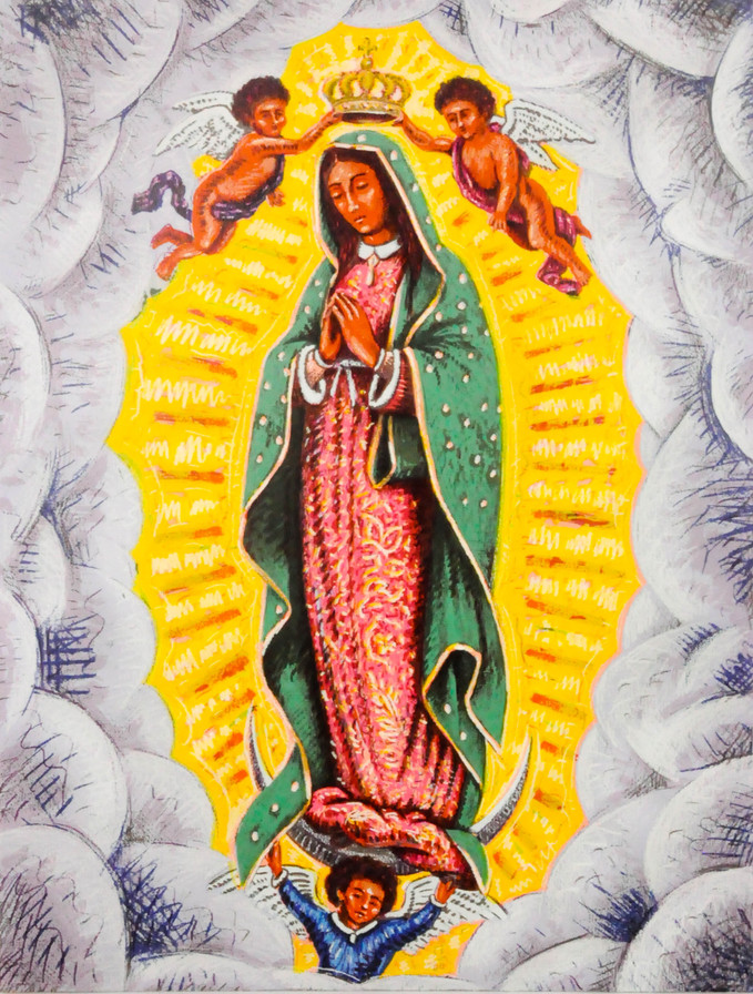 "Carlos Fresquez (Denver, CO). ""Our Lady of Guadalupe"". Silkscreen Print."