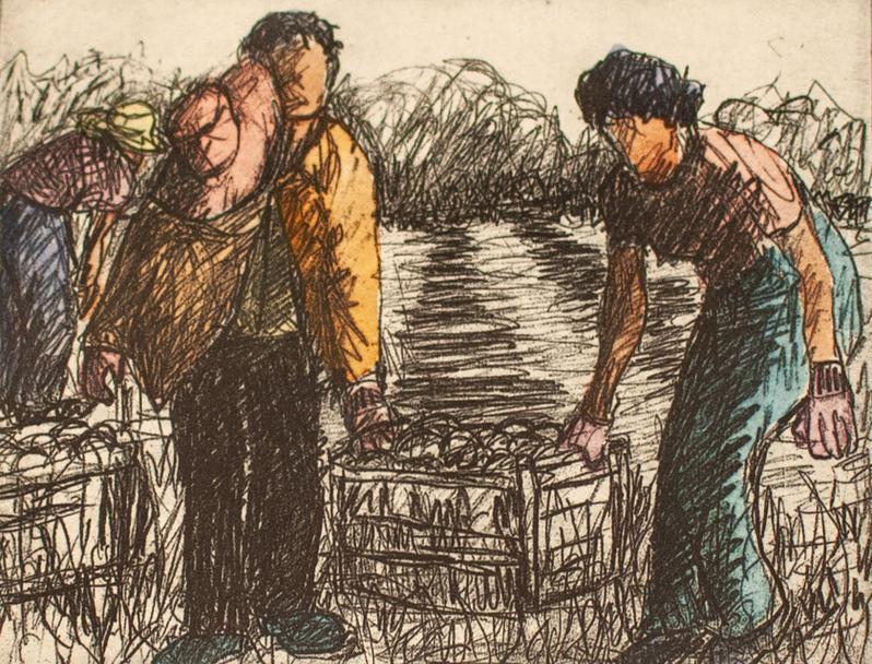 "Tony Ortega (Denver, CO). ""Las Mejores Migrantes"". Pastel Painting."