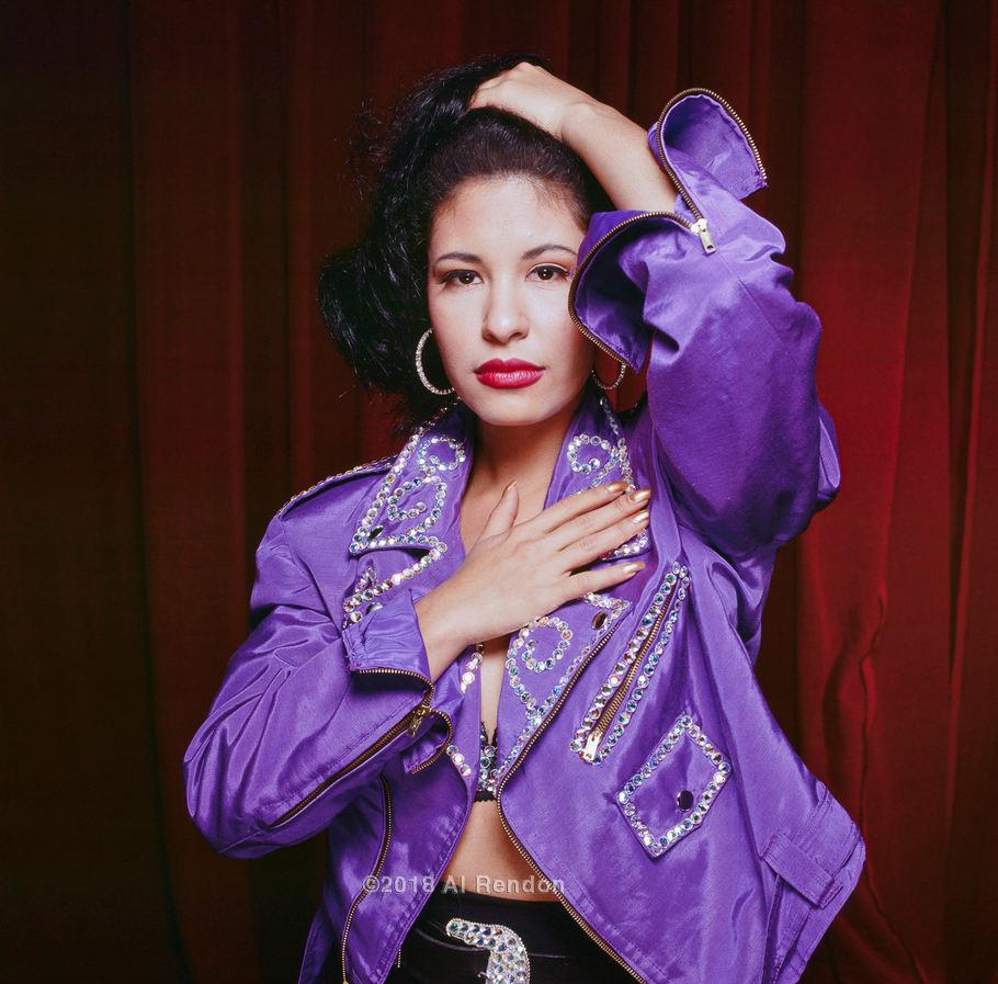 """Al Rendon (San Antonio, TX). """"Portrait of Selena"""". Chromogenic print, 1993."""