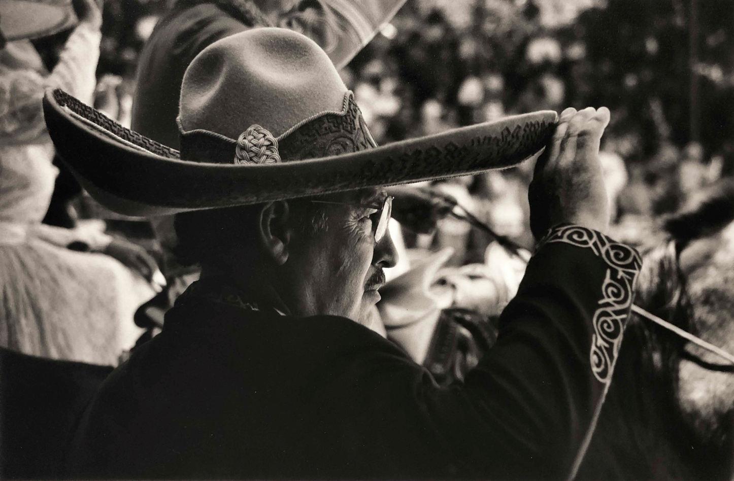 Al Rendon (San Antonio, TX). Portrait of Alberto Saludando. Gelatin Silver print, 1993.