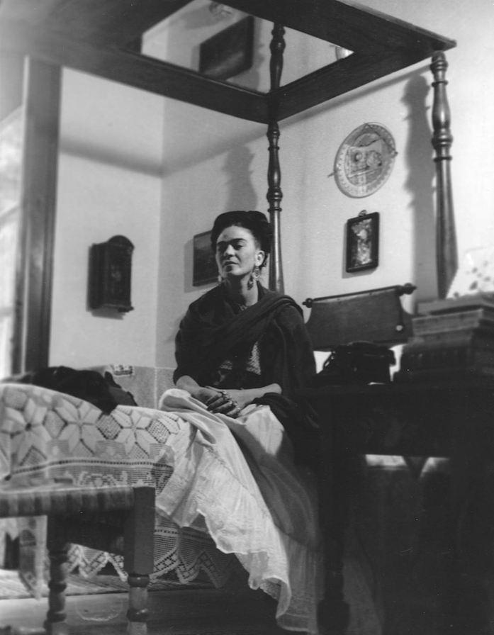 Lola Álvarez Bravo (Mexico City, México). A Portrait of Frida Kahlo. Gelatin silver print, 1945.