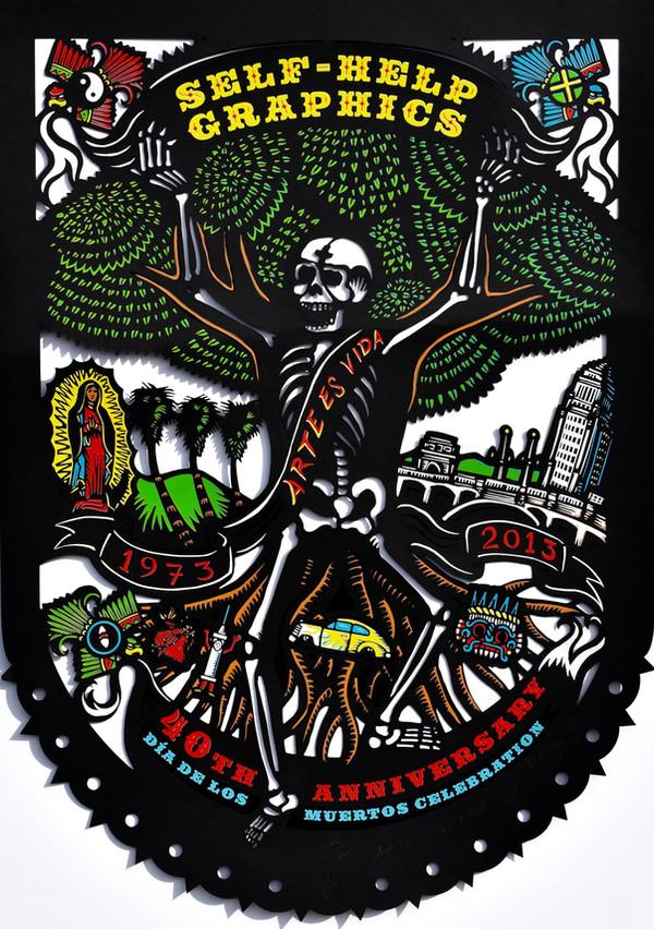 """Daniel González (Los Angeles, CA). """"Arte es Vida"""". Serigraph, 2013."""