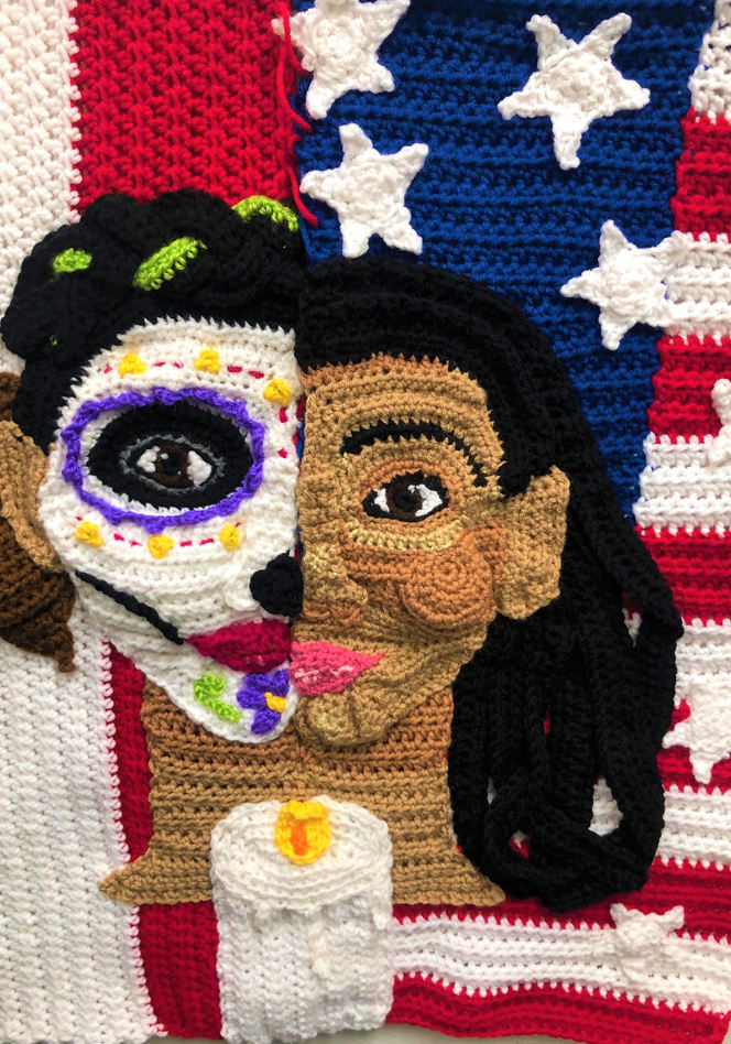 Abi Rosales (Denver, CO), Crocheted acrylic yarn.