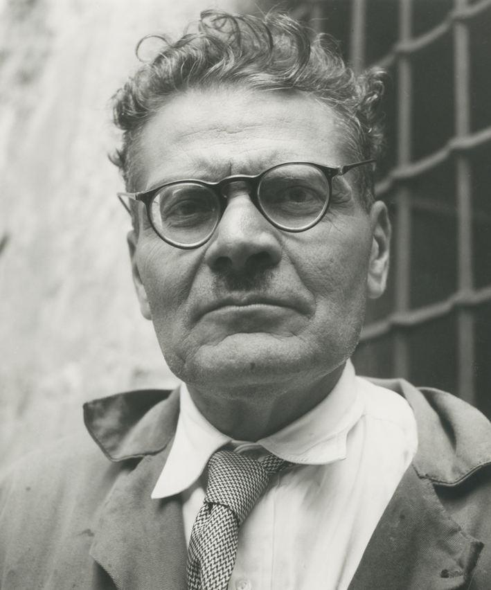 Fritz Henle (German), Portrait of José Clemente Orozco in Guadalajara, Jalisco, México. Silver gelatin print, 1943.