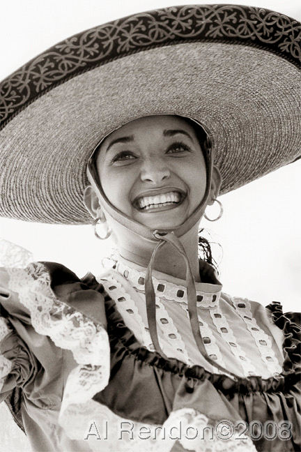 Al Rendon (San Antonio, TX). Portrait of Erica Moran. Gelatin Silver print, 1993.