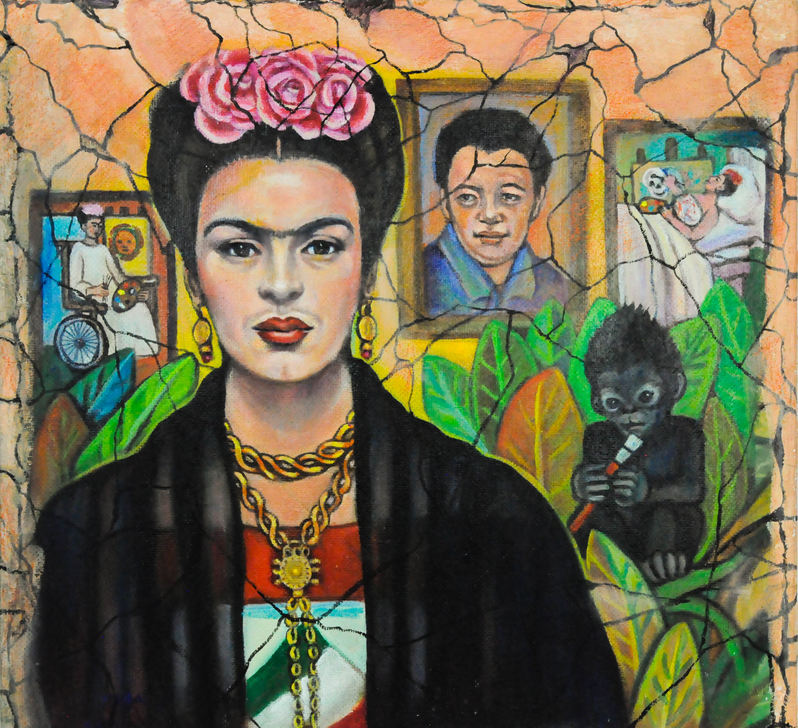 Carlota EspinoZa (Denver, CO). Frida. Painting on canvas