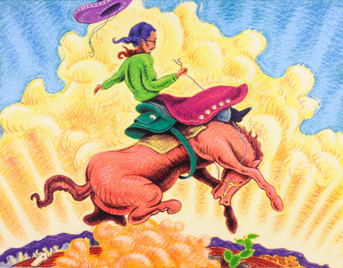 """Carlos Fresquez (Denver, CO). """"Vaquero Chicano"""". Silkscreen."""