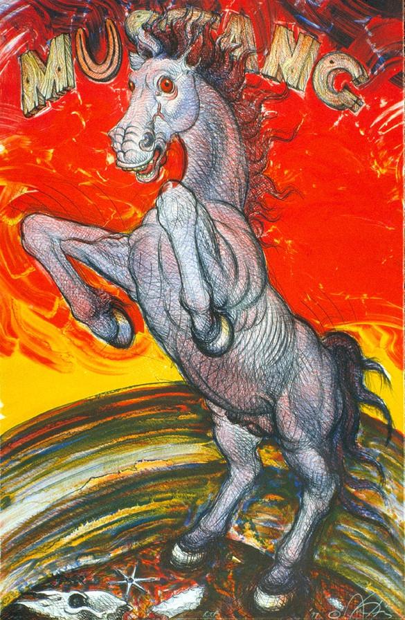 "LuizJiménez (El Paso, Texas). ""Mustang"". Lithograph."