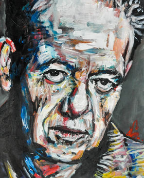 Joaquín Gonzáles (Denver, CO). Diego. Painting on canvas