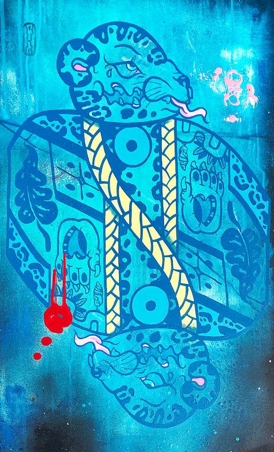 """Victor Escobedo (Denver, CO). """"Rey de la Selva"""". Painting on Canvas."""