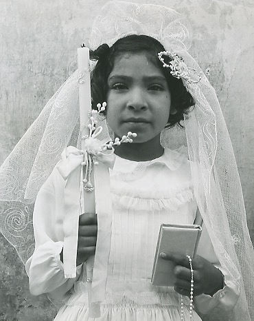 Bernard Silberstein (American). First Communion, Guanajuato, México. Silver gelatin print, 1940.