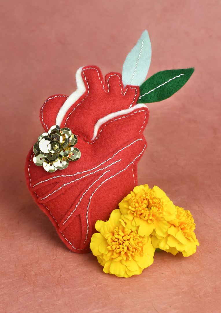 DIY Heart Kit--handmade by artist Lilian Lara