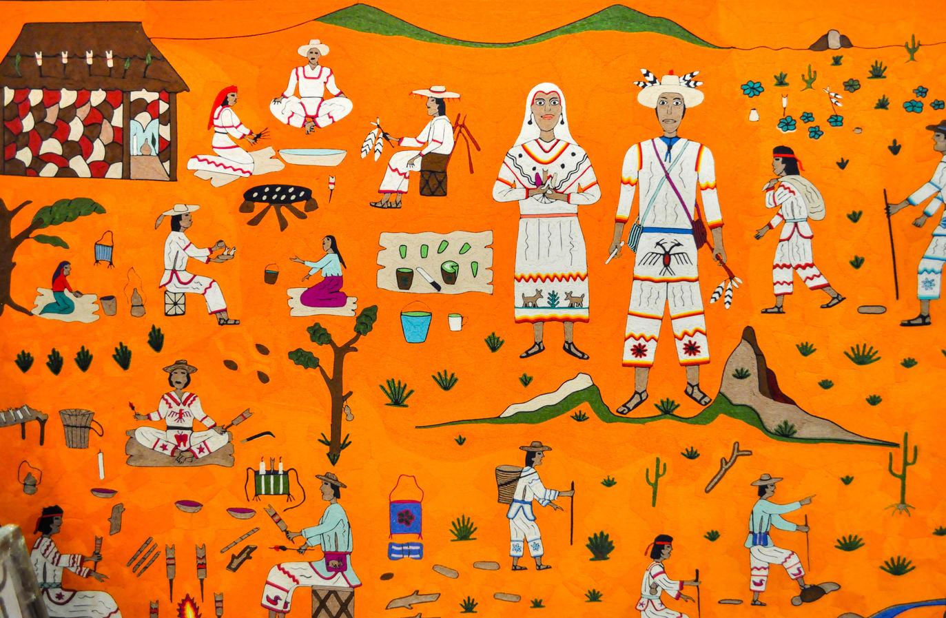 Unknown Wixáritari (Huichol) artist (México). Yarn painting.