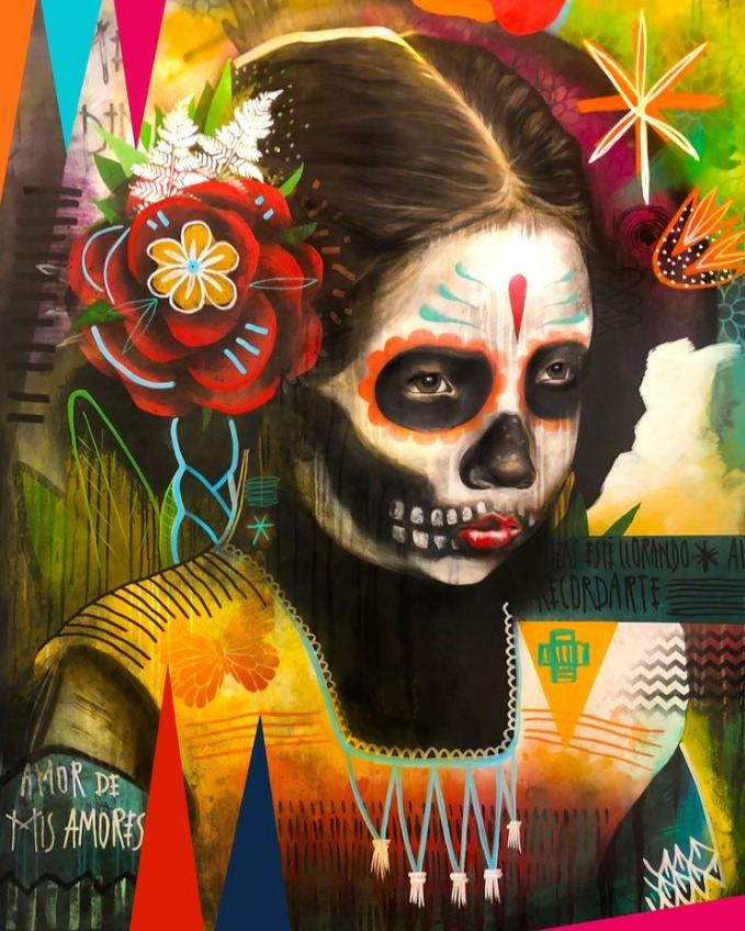 """Armando Silva (Greeley, CO). """"La Niña que no Tengo"""". Painting on canvas."""