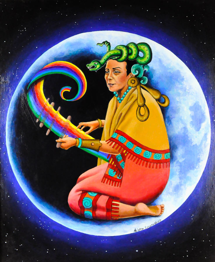 "Arlette Lucero (Denver, CO). ""Ix Chel"". Painting."