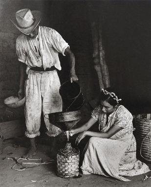 Rodrigo Moya (Mexico). Garrafa de Mezcal in Oaxaca, Mexico. Gelatin silver print, 1965.