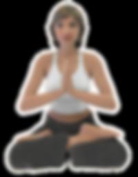 Yoga PetitMe 3D Printed Figurine