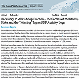 """Backstory to Abe's Snap Election – the Secrets of Moritomo, Kake and the """"Missing"""" Japan SDF Activity Logs"""