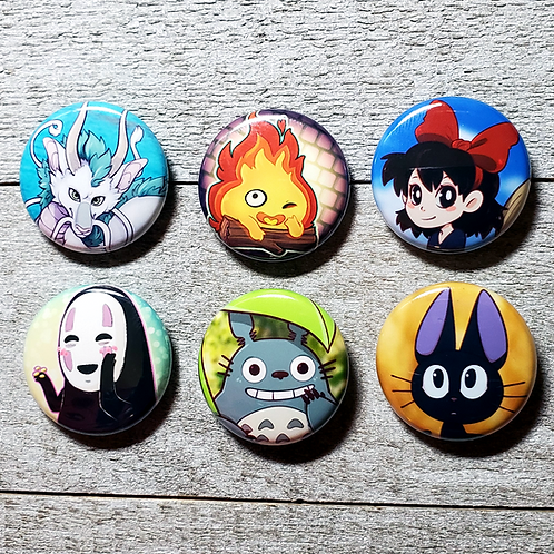 "Studio Ghibli 1"" Button"