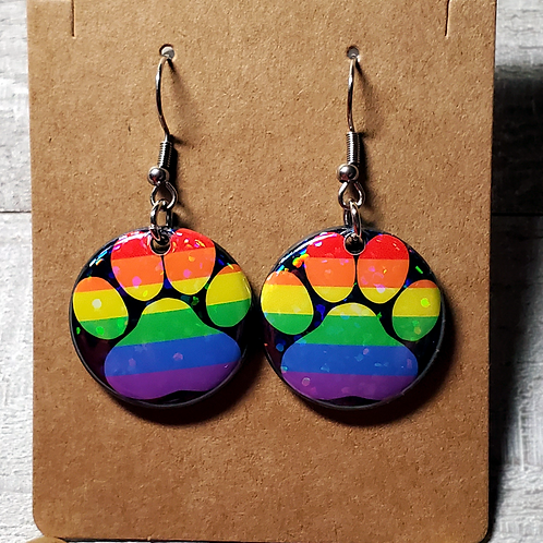 "Gay Rainbow 1""Earrings"
