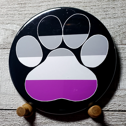 "A Sexual 3.5"" Pride Paw Button"
