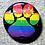 """Thumbnail: 1"""" Sparkle Pride Paw Button"""